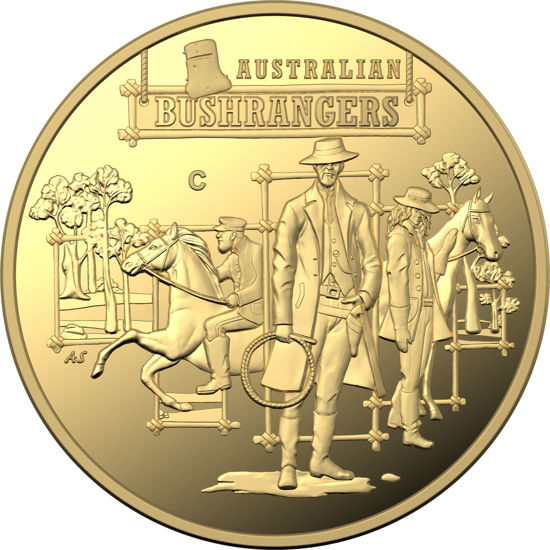 10097 Reverse of the 2019 $10 Gold Proof The Bold the bad and the ugly Coin