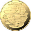 10109 Reverse of the 2019 Gold Proof Year Set twenty cent coin