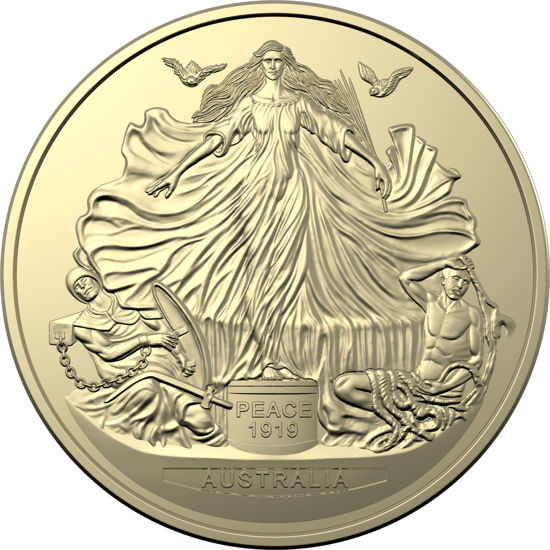 2019 $1 AlBr unc coin Centenary of the Treaty of Versailles