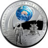 10283 Reverse of the 2019 $5 Silver Proof Apollo 11 Moon Landing 50th Anniversary Coin
