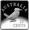 10212 Reverse of the 2019 25c Fine Silver Proof Kookaburra Patterns 1920 Coin