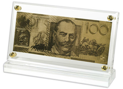 9910842 Replica 24 ct Gold Note $100