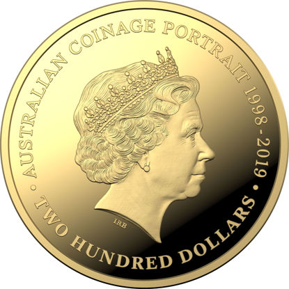10388 Reverse of the 2019 $200 Gold proof coin