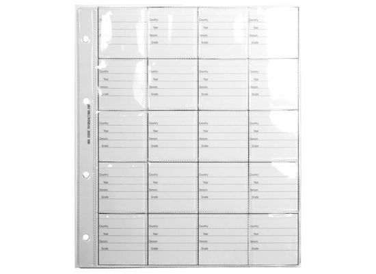 7610524 Coin Album Spare Pages - Size 6