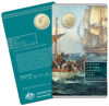 10184 Packaging of the 2019 one dollar uncirculated Mutiny and Rebellion Mutiny on the Bounty Coin