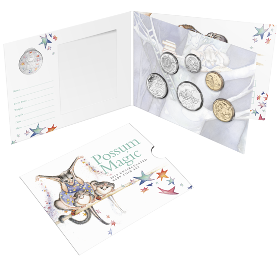 10092 Packaging of the 2019 6 Coin Baby Uncirculated Set Possum Magic