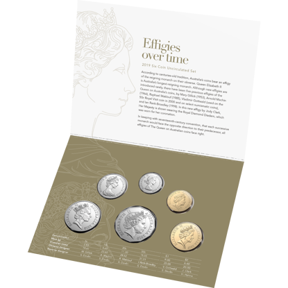 10163 Packaging of the 2019 Effigies Over Time Six Coin Uncirculated Set