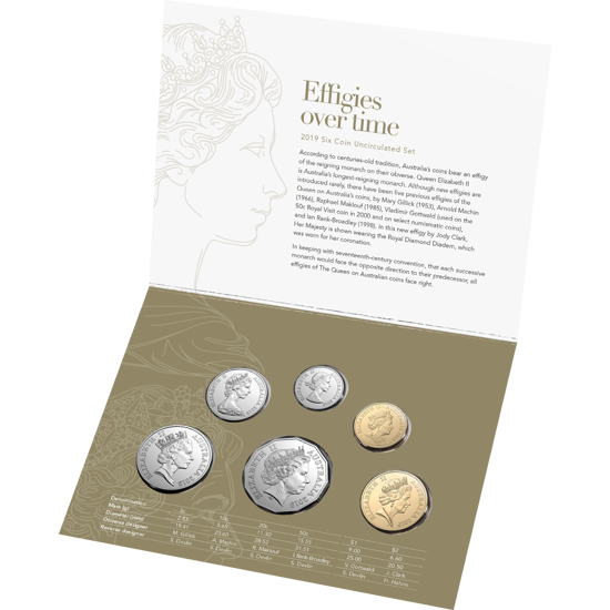 2019 RAM Uncirculated UNC 6 Coin Mint Set 50th anniversary of Moon landing