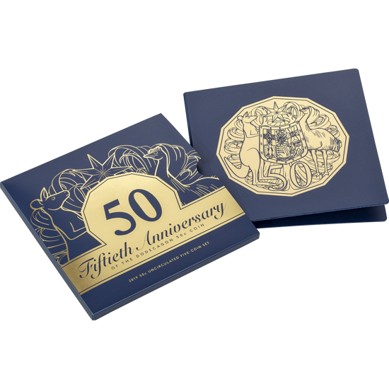 10211 Packaging of the 2019 50th Anniversary of the Dodecagon 50c coin collection