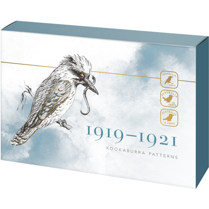 10212 Packaging of the 2019 25c Fine Silver Proof Kookaburra Patterns Coin Set