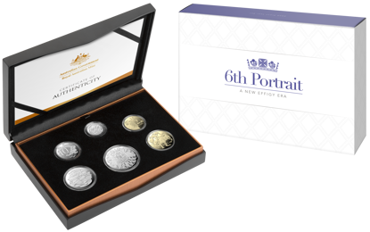 10226 Packaging of the 2020 A New Effigy Era - Six Coin Proof Year Set