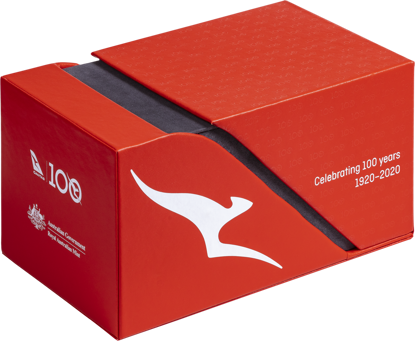 10245 Packaging of the Qantas Centenary 2020 $1 Coloured Uncirculated Eleven-Coin Collection