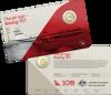 10245 Card - Qantas Centenary 2020 $1 Coloured Uncirculated Eleven-Coin Collection