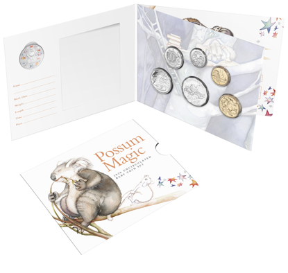 10275 Packaging of the 2020 6 Coin Baby Unc Set Possum Magic