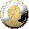Obverse 2020 $1 5oz Fine Silver Gold Plated Mob of Roos Proof Coin