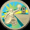 Reverse of 10397 2020 $1 Australian Paralympic Team Ambassador Coloured Frunc Coin