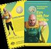 Packaging of 10397 2020 $1 Australian Paralympic Team Ambassador Coloured Frunc Coin