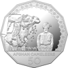 Reverse of 10282 2020 50c Afghan Cameleers Silver Proof Coin