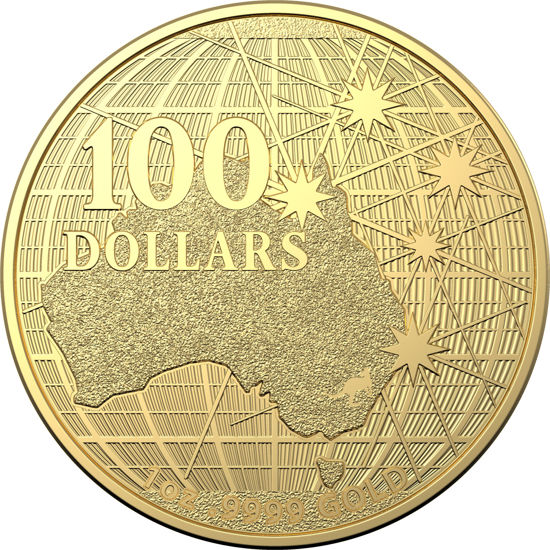 10298 2020 $100 1oz Gold Investment Coin Beneath The Southern Skies