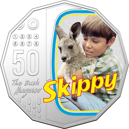 2020 50c Coloured Unc Skippy the Bush Kangaroo