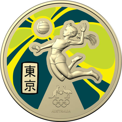 Reverse of 10396 2020 $1 Australian Olympic Team Ambassador Coloured Frunc Coin