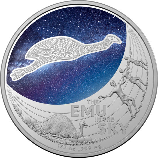 10512 Reverse 2020 $1 Fine Silver Unc Coin - Star Dreaming-The Emu In The Sky