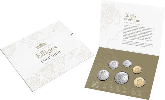 2019 Uncirculated Year Set - Effigies over time