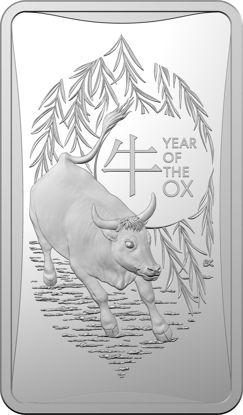 2021 Lunar Year of the Ox $1 Fine Silver Ingot