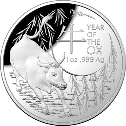 2021 Lunar Year of the Ox $5 Fine Silver Proof