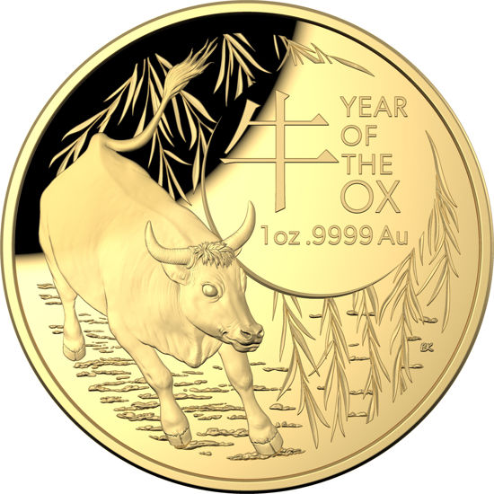 2021 Lunar Year of the Ox $100 Gold Proof