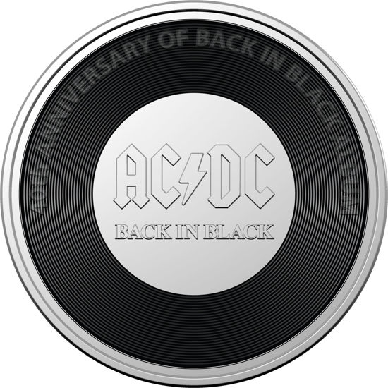 2020 20c Coloured Unciculated Coin - Back in Black