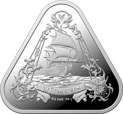 2021 $1 Silver Triangular Zeewijk Investment Coin