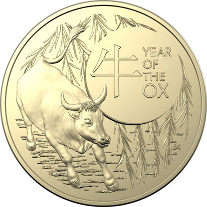 2021 $1 Uncirculated Year of The Ox Coin
